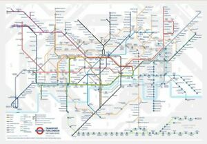 Gibsons Jigsaw Puzzle Tfl Underground Map 150 Pieces Jigsaw Puzzle