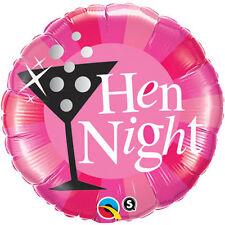 "Qualatex 15828 18"" Hen Night Pink Round Foil Balloon 01ct - Party Helium 18"