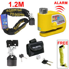 1.2M Motorcycle Motorbike Chain Lock Scooter Alarm Brake Disc Lock Security