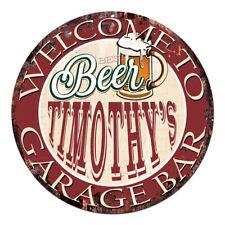 Cpbg-0027 Beer Timothy'S Garage Bar Chic Tin Sign Man Cave Decor Gift Ideas