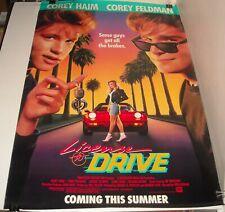 ROLLED 1988 LICENSE to DRIVE ADV MOVIE POSTER COREY HAIM & FELDMAN TEEN COMEDY