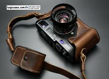 LUIGI CASE+GRIP+DELUXE STRAP for LEICA M9,+NATURAL AGED BROWN,HAND DONE PATTERN