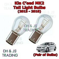 Kia Ceed Tail Light Bulbs Pair of Rear Tail Light Bulb Lights C'eeD MK2 (13-18)