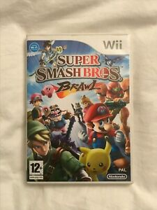 SUPER SMASH BROS BRAWL NINTENDO Wii GAME COMPLETE WITH MANUAL PAL WII