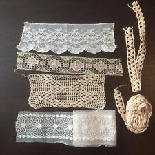 Lot de Dentelle Crochet Anciens Galon Passementerie - Antique French Lace