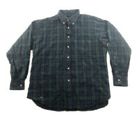 Pendleton XL Black Watch Tartan Plaid Button Down Flannel Shirt