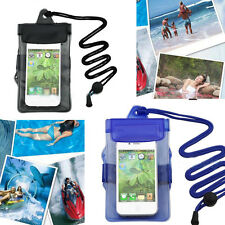 Black & Blue Waterproof Underwater Pouch Bag Case Cover For Cell Phone PDA AU