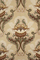 Fabric Antique French Art Nouveau printed cotton textile for reworking 66x81in