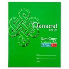 5 x Ormond C3 School Maths 7mm Squared Exercise Book 88 Pages Value A5+ 11112