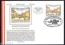 AUSTRIA 1 BUSTA PRIMO GIORNO FDC KLAGENFURT 1996