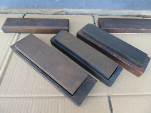 3 x Natural Vintage Sharpening Stones - As Photo's