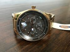 New! Fossil Justine Rose Gold Multifunction Watch with Crystals Sold Out!!