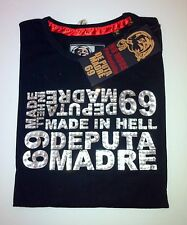 De Puta Madre Shirt Männer spezielle Langarm 100% Authentic Größe XXL NEU