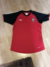 Men's Southampton Fc Football Training Top Shirt Umbro Red Black Size Small