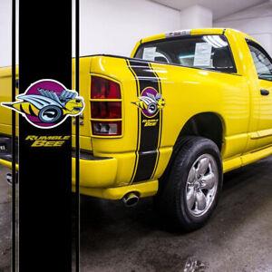 Car Truck Vinyl Rumble Bee Racing Stripe Decal Stickers For Dodge Ram 1500 2500