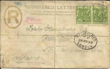 British East Africa Protectorate Registered Postal Envelope HG:C1 uprated SG#65