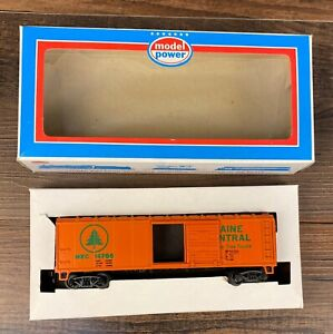 Model Power HO Train Car Maine Central Sliding Door Box #9007 Original Box