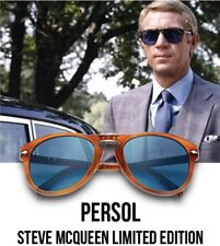 New PERSOL Steve McQueen 714SM Polarized Folding Sunglass PO 714 C. 96/S3 54mm