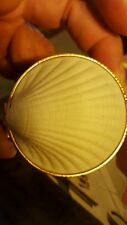 Estee Lauder White Linen  RARE SHELL TRINKET BOX Md in Japan W Mini Perfume