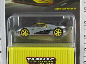 Tarmac Works 1:64 Scale 2021 Global64 Yellow KOENIGSEGG AGERA RS **Chase** RAW