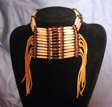Native American Indian Buffalo Bone Breastplate Choker Necklace