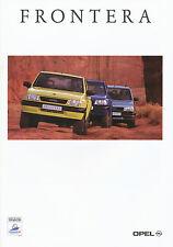 Opel Frontera Prospekt 1/98 brochure Autoprospekt Auto Pkw Geländewagen 1998