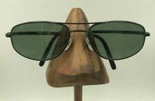 Vintage Polo Sport 1091/N/S X76 Black Metal Oval Aviator Sunglasses Frames