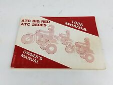 1985 ATC250ES Honda Owners Manual Booklet 85 250ES ATC Big Red Hondaline