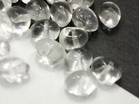 50 Böhmische Glasperlen 8x6mm Crystal Klar TICO Czech Glassbeads #2807
