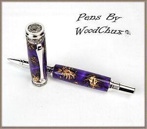 HandMade Writing Pen Ball Point Fountain Mini Pine Cones SEE VIDEO 1189