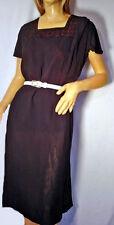 1950s Vintage Black Cocktail Dress Size Large Sheer Sheath Dress