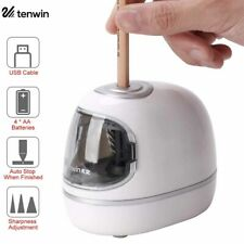 Electric Pencil Sharpener Automatic Touch Switch Desk School Office Portable