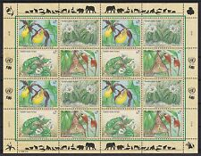 UNO Wien 1996 postfrisch MiNr.  205-208  Gefährdete Arten