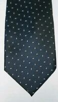 ERMENEGILDO ZEGNA DARK BLUE WITH TINY ACCENTS SILK TIE. Free Shipping.