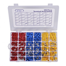 480pcs Wire Terminals Crimp Connectors ELSKY Mixed Assorted Lug Kit Insulated