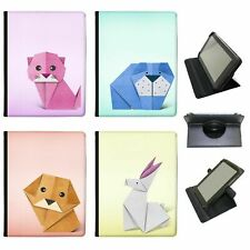 Japanese Paper Origami Animals Universal Folio Leather Case For Acer Tablets