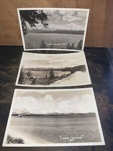 3 Lake Tahoe Real Photo -Postcards - Antique Cards.