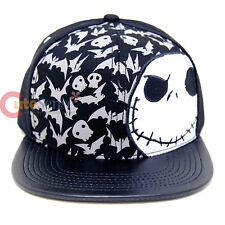 Nightmare Before Christmas Jack Felt Sanpback Hat NBC Trucker Flat PVC Bill Cap
