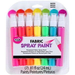 Duncan-Tulip Fabric Spray Paint Mini Pack .81oz 7/Pkg-Neon