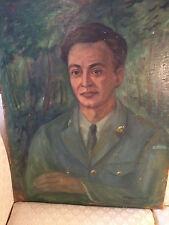 "Nice M Fainmel ""Portrait Of A Canadian Soldier"" Oil Painting -Signed"