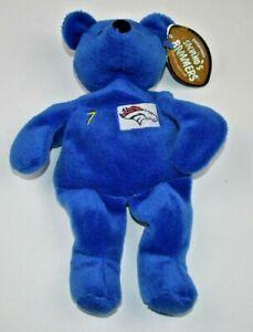 "Denver Broncos John Elway #7 Bean Bag Bear by Savino's Bammers 9"" tall."