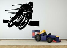 Wall Room Decor Art Vinyl Sticker Mural Decal Motorcycle Bike Ride Large AS1455