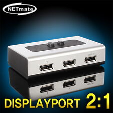 2 Port Display Port Manual High Quality Selector Sharing Switch BOX V1.1a Apple