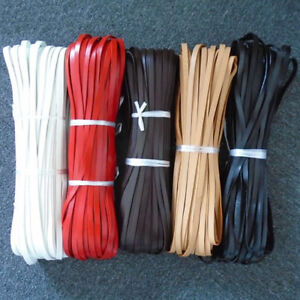 1/2/5 Meters 10mm Flat Genuine Leather Strap Cord 10x2mm String Lace Thong