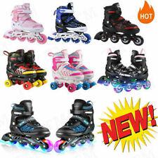 Kids/Adult Roller Skates Women's Inline Skates Adjustable with 4 PU Wheels Gift<