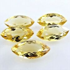 5 Pc Lot 10x5mm Marquise Cut Natural Brazilian Citrine Loose Calibrated Gemstone