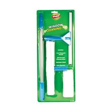 WINDOW CLEANING KIT TELESCOPIC POLE CLEANER HOME CAR VAN SQUEEGEE WASHER NEW