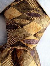 Men's Colours by Alexander Julian Brown Silk Tie Made in Costa Rica A25091