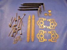 Asian   Chinese Style BRASS CABINET DECOR HARDWARE  Used Lot of 28 pieces