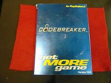 Codebreaker Code Breaker get MORE game Version 10 PS2 PlayStation 2 Codes Cheats